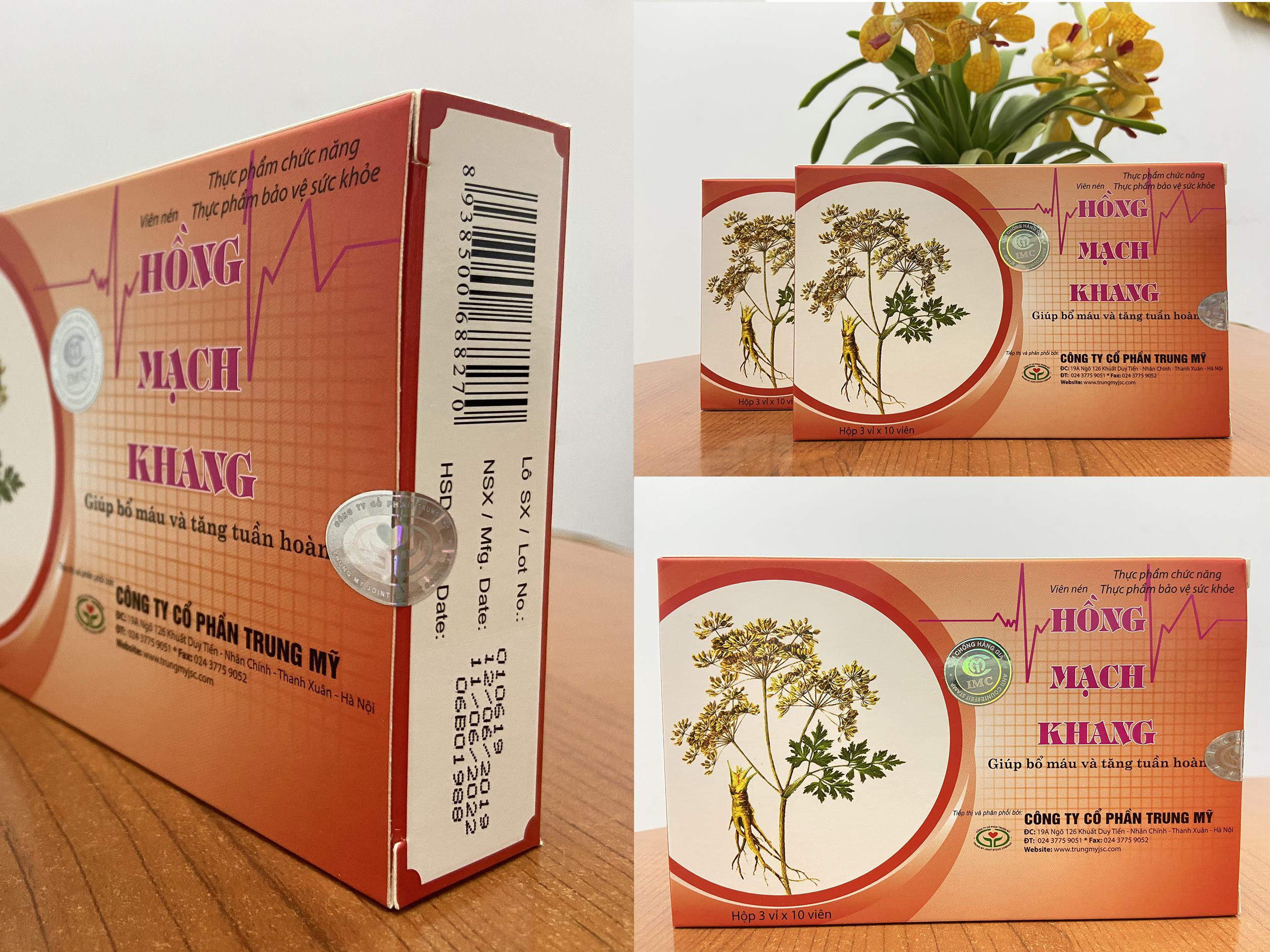 Tpbvsk Hồng Mạch Khang chính hãng có đầy đủ tem mác